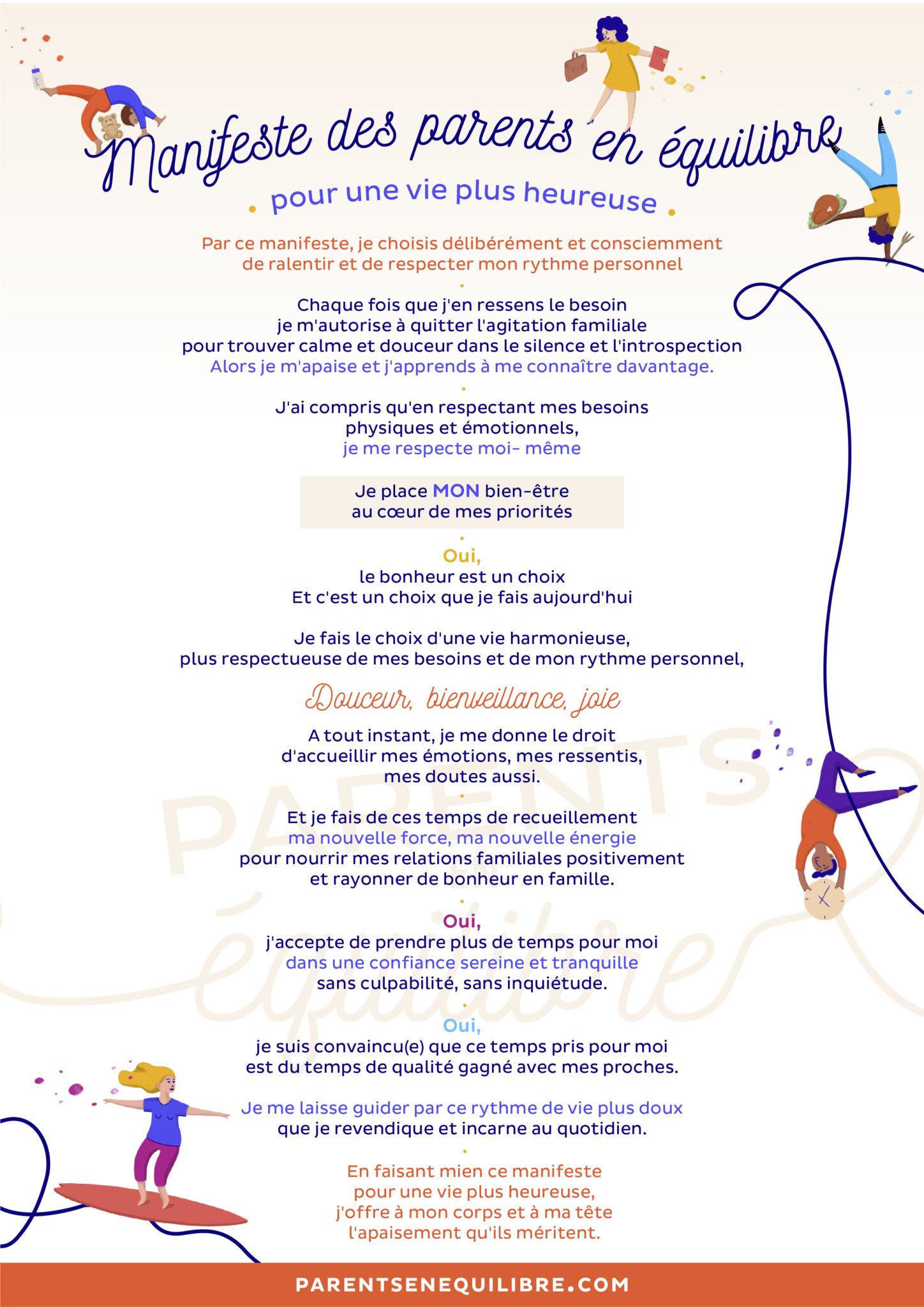 Manifeste Pour Une Vie Plus Heureuse Parents En